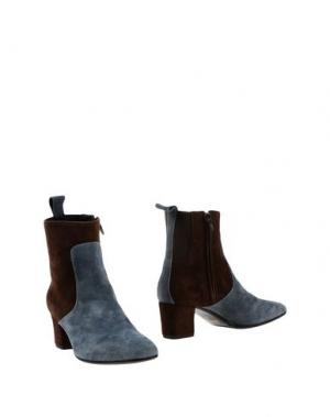 Полусапоги и высокие ботинки SETTANTATRE LR. Цвет: грифельно-синий