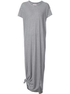 Платье-футболка The Great. Цвет: серый