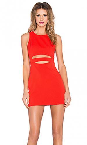 Платье royals NBD. Цвет: красный