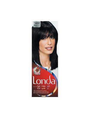 Крем-краска для волос упрямой седины стойкая 11+ Черный LONDA. Цвет: белый, красный