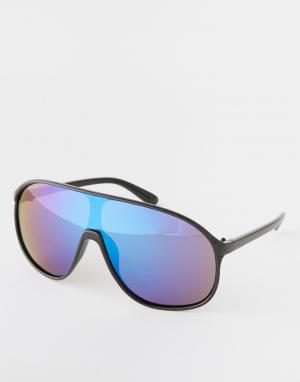 Trip Солнцезащитные очки-маска. Цвет: черный