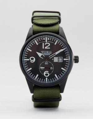 Techne Часы с оливковым ремешком Harrier Nato. Цвет: зеленый