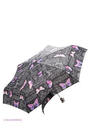 Зонт Isotoner. Цвет: серый, розовый, черный