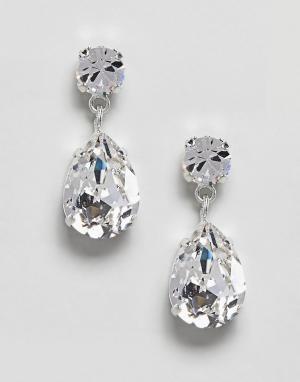 Krystal London Серьги с кристаллами Swarovski от Angelina. Цвет: очистить
