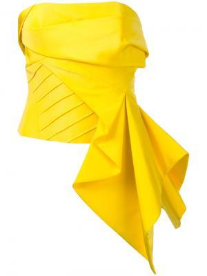 Топ без бретелей с драпировкой Rubin Singer. Цвет: жёлтый и оранжевый
