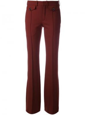 Расклешенные брюки Chloé. Цвет: красный