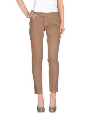 Повседневные брюки DUCK FARM. Цвет: песочный