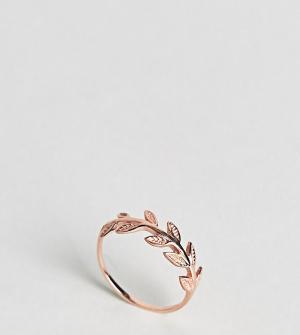 Kingsley Ryan Кольцо с покрытием розовым золотом. Цвет: золотой