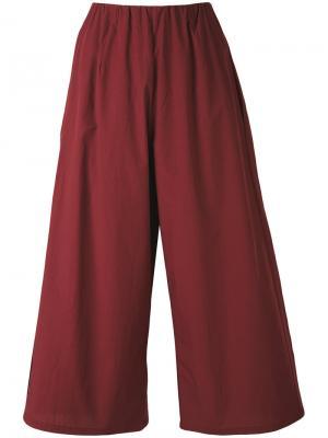 Укороченные широкие брюки Apuntob. Цвет: розовый и фиолетовый