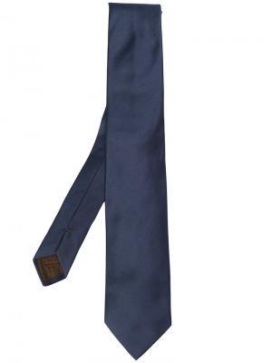 Классический атласный галстук Churchs Church's. Цвет: синий