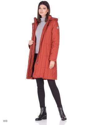 Пальто JUDIT Maritta. Цвет: терракотовый