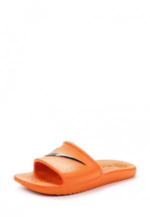 Сланцы Nike. Цвет: оранжевый