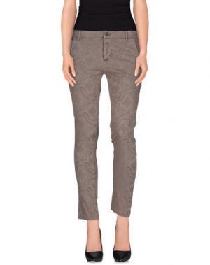 Повседневные брюки YES ZEE by ESSENZA. Цвет: серый
