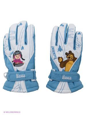 Перчатки Disney Princess. Цвет: голубой, белый