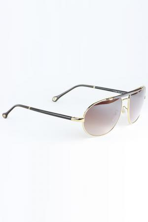 Очки солнцезащитные Ermenegildo Zegna. Цвет: коричневый