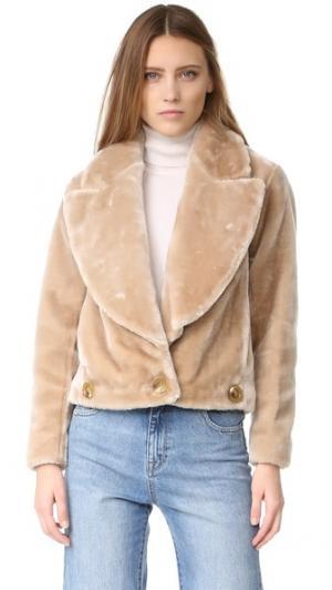 Куртка с искусственным мехом Intropia. Цвет: верблюжий