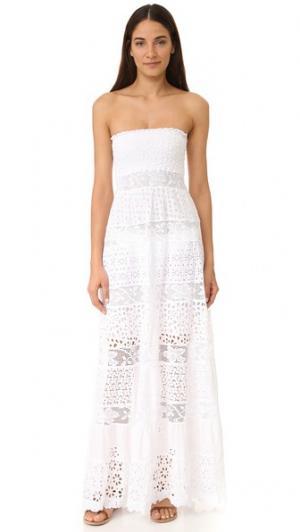 Кружевное платье без бретелек Temptation Positano. Цвет: белый