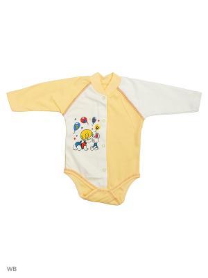 Боди Babycollection. Цвет: белый, желтый