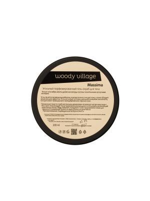 Угольный гель-скраб Massima Woody Village. Цвет: белый