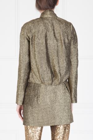 Жакет из шерсти и шелка Marc Jacobs. Цвет: золотой