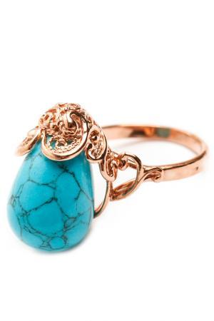 Кольцо ZAXA HADID. Цвет: голубой
