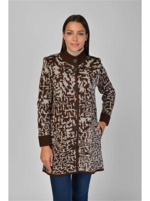 Пальто Maria Velada. Цвет: коричневый, бежевый