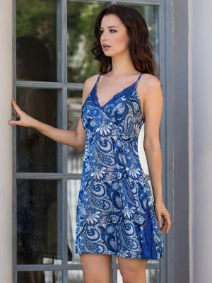 Ночная сорочка MIA-MELLA. Цвет: синий