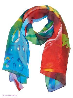 Парео текстильное Vittorio Richi. Цвет: красный, синий