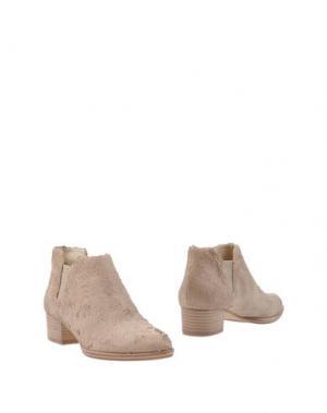 Полусапоги и высокие ботинки BRUNO PREMI. Цвет: песочный