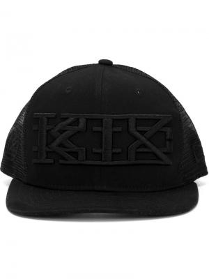 Кепка с вышивкой логотипа KTZ. Цвет: чёрный