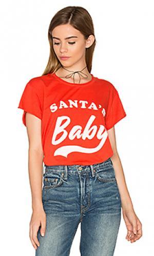 Футболка с закрученными краями santas baby The Laundry Room. Цвет: красный