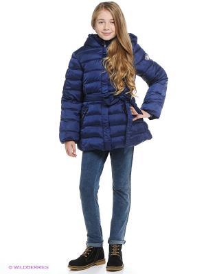 Пальто Button Blue. Цвет: темно-синий