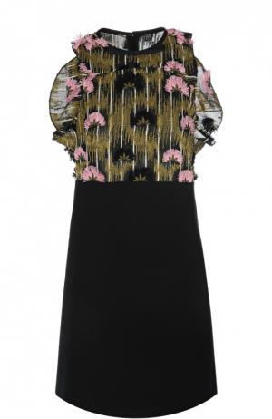 Вечернее платье Giambattista Valli. Цвет: черный
