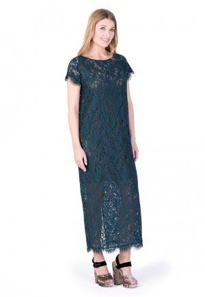 Платье Uona. Цвет: бирюзовый