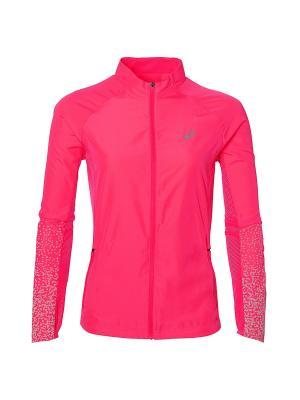 Куртка LITE-SHOW JACKET ASICS. Цвет: розовый