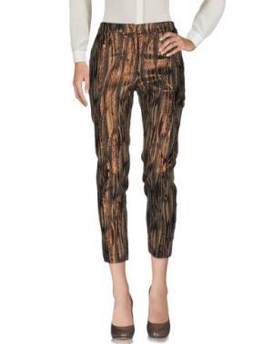Повседневные брюки NINEMINUTES. Цвет: темно-коричневый