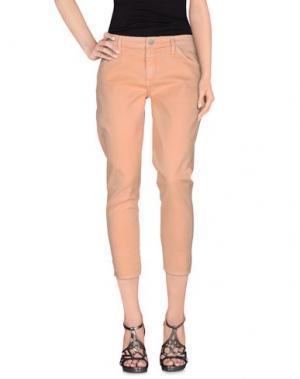 Джинсовые брюки GOLDSIGN. Цвет: абрикосовый