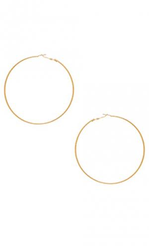 Серьги-кольца koko 8 Other Reasons. Цвет: металлический золотой