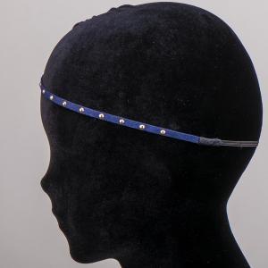 Ободок-резинка для волос, арт. 08 594 Бусики-Колечки. Цвет: синий