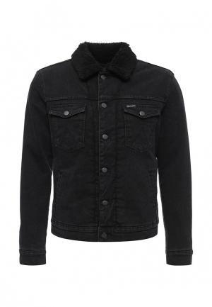 Куртка джинсовая Wrangler. Цвет: черный