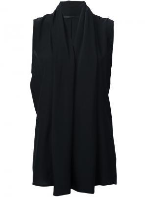 Блузка без рукавов Haider Ackermann. Цвет: чёрный