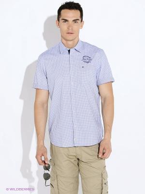 Рубашка LERROS. Цвет: синий, белый