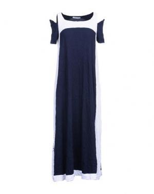 Длинное платье OBLIQUE CREATIONS. Цвет: темно-синий