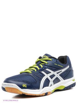 Волейбольные кроссовки GEL-ROCKET 7 ASICS. Цвет: синий, зеленый, белый
