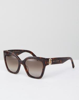 Marc Jacobs Солнцезащитные очки в толстой оправе кошачий глаз. Цвет: коричневый