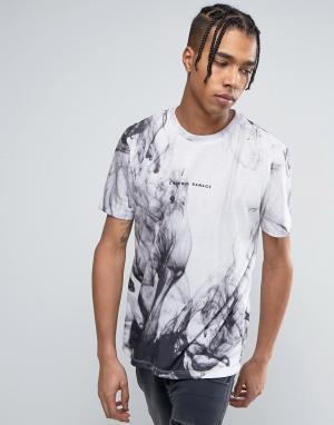 Criminal Damage Белая футболка с принтом. Цвет: белый