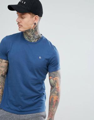 Jack Wills Синяя футболка Sandleford. Цвет: синий