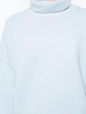 Джемпер с высокой горловиной Nili Lotan. Цвет: синий
