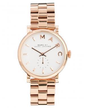 Marc Jacobs Часы с отделкой под розовое золото Baker MBM3244. Цвет: медный
