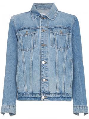 Джинсовая оверсайз-куртка Le Jacket Frame Denim. Цвет: синий
